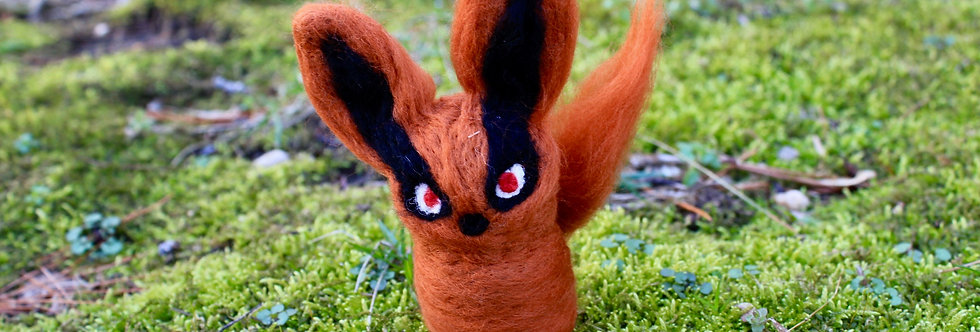 Felted Baby Orange Demon Fox