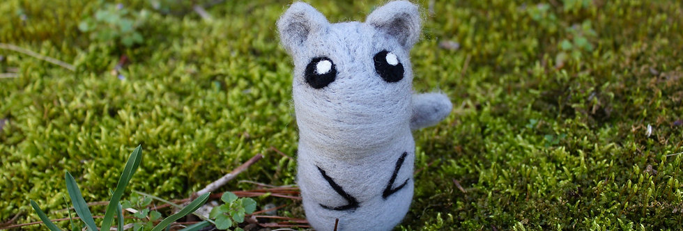 Felted Gray Rat
