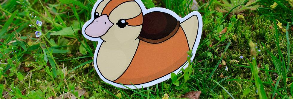 """Baby Turtle Duck 3"""" Vinyl Sticker"""