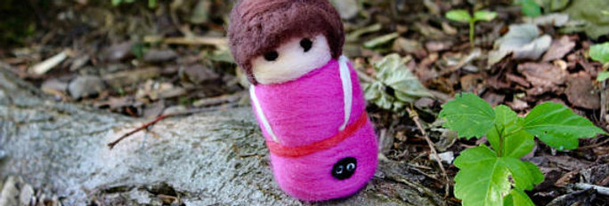 Felted Girl in Pink
