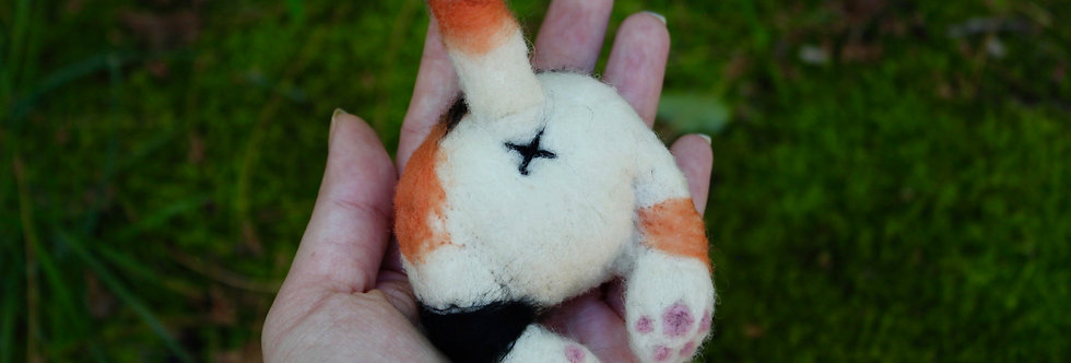 Felted Cat Butt Hair Clip or Pin