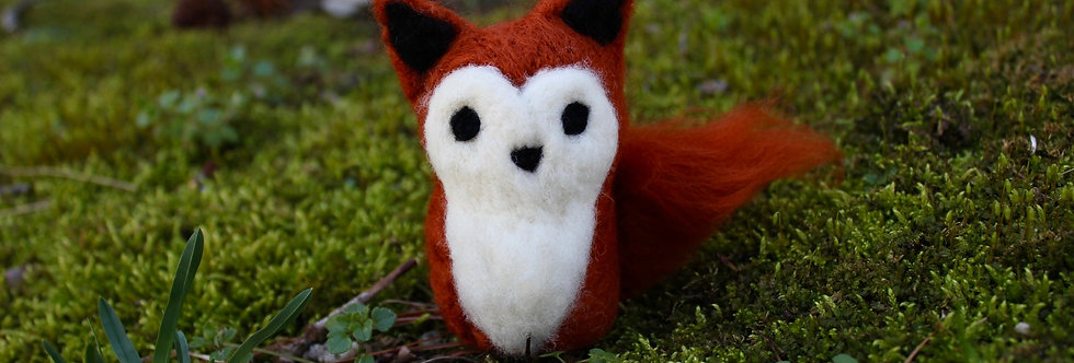 Felted Colorful Minimalist Fox (Choose Your Color)