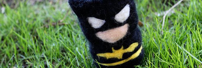 Felted Bat Superhero