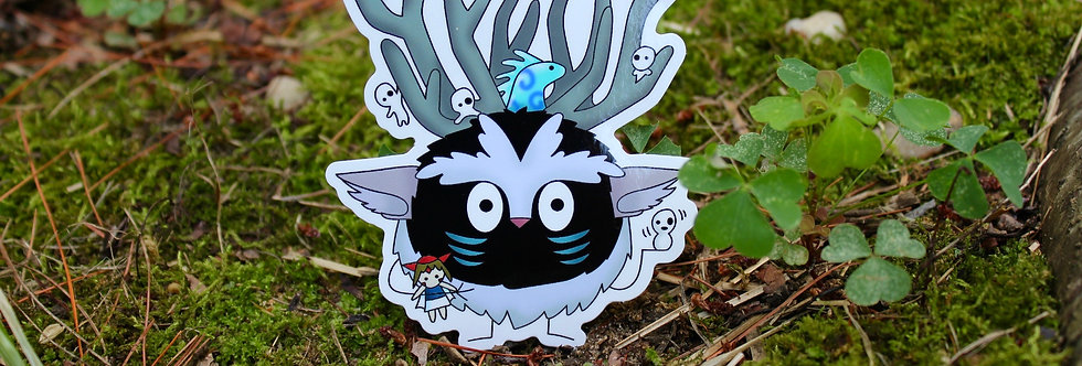 "Soot Sprite Forest Spirit 4"" Vinyl Sticker"