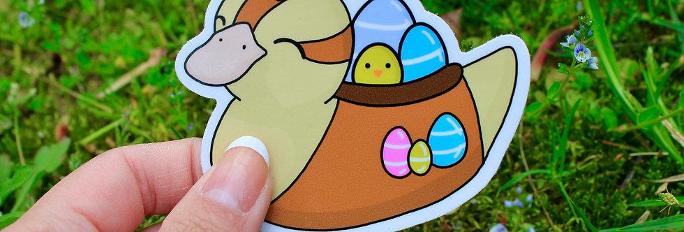 "Easter Baby Turtle Duck 3"" Vinyl Sticker"