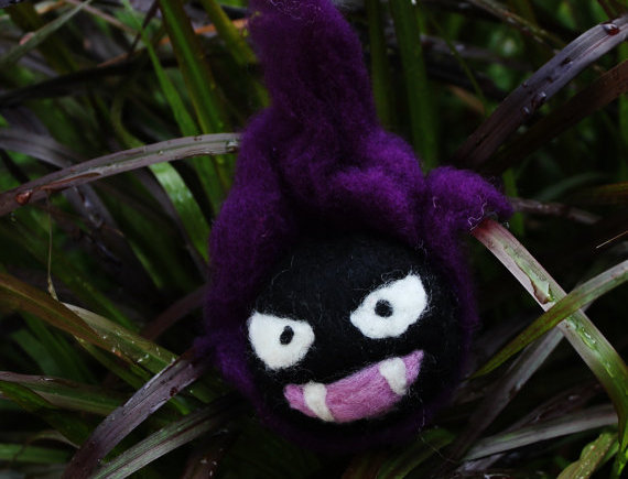 Felted Ghost Ball Creature