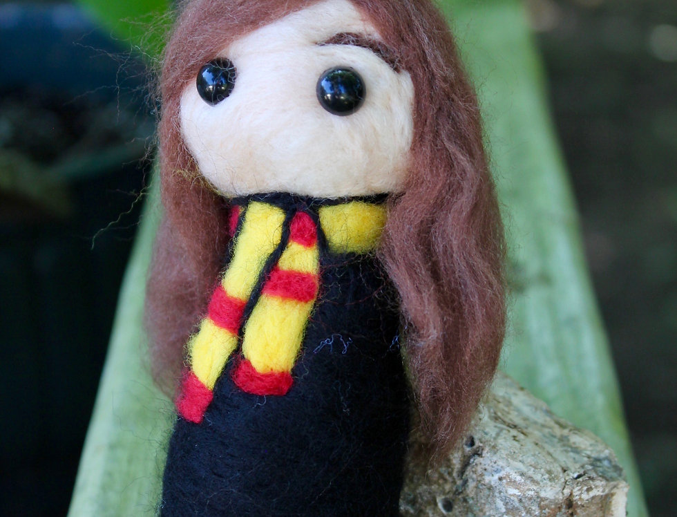 Felted Smart Witch Sculpture