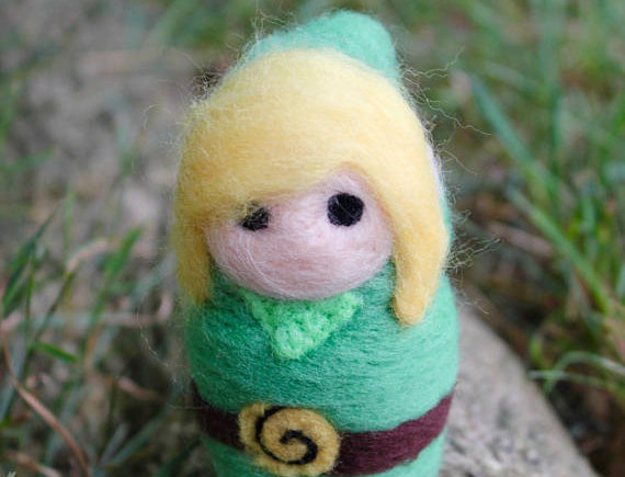 Felted Green Adventure Elf