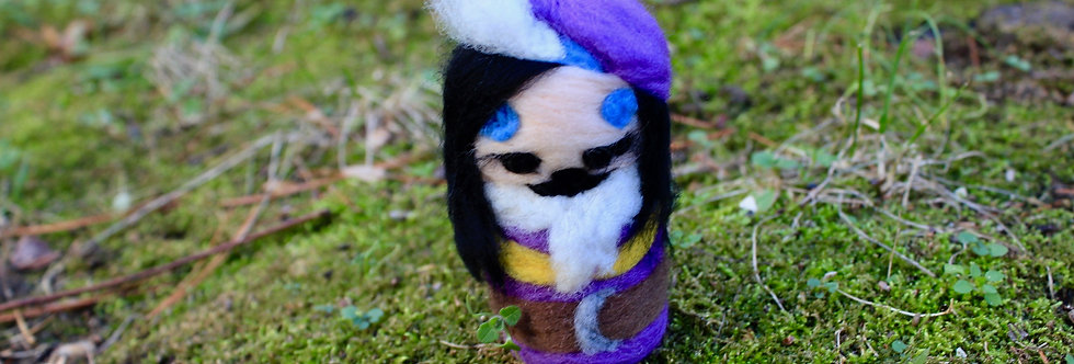 Felted Witchy Bard