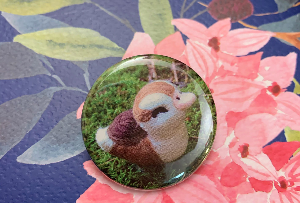 """Close-Eyed Turtle Duck 1.5"""" Button"""