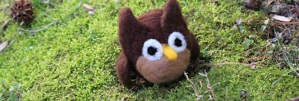 Felted Brown Owl