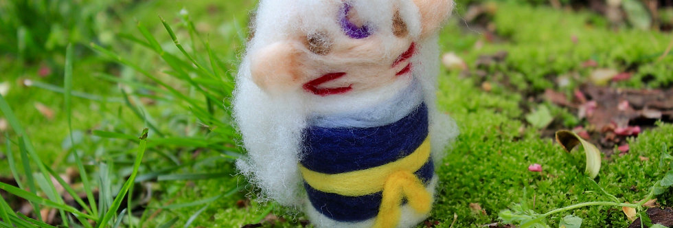 Felted Brother Wolf Man Sculpture