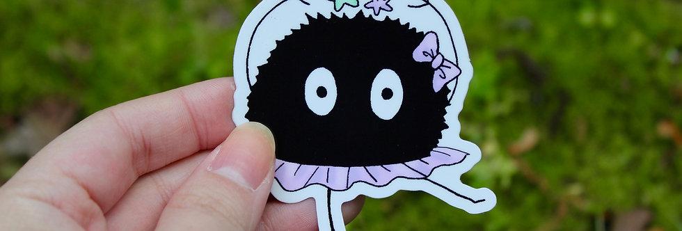 """Soot Sprite Ballerina 2.5"""" Vinyl Sticker"""