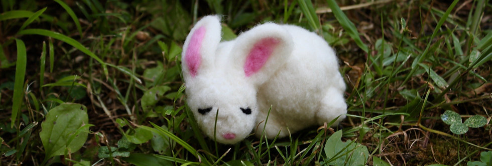 Felted Sleeping Bunny
