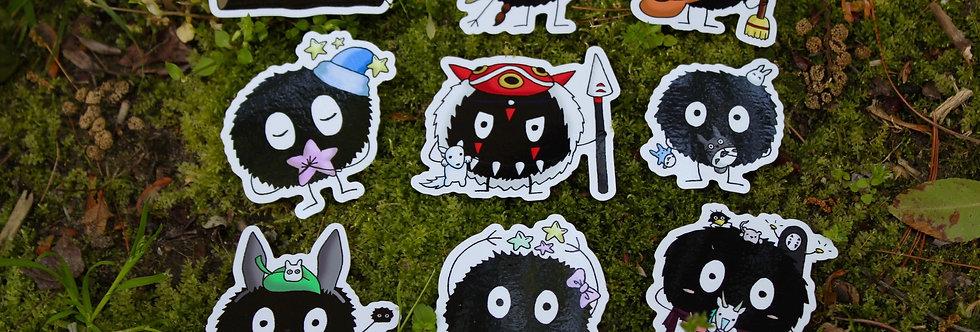 Soot Sprite Sticker Collection Pt. 1