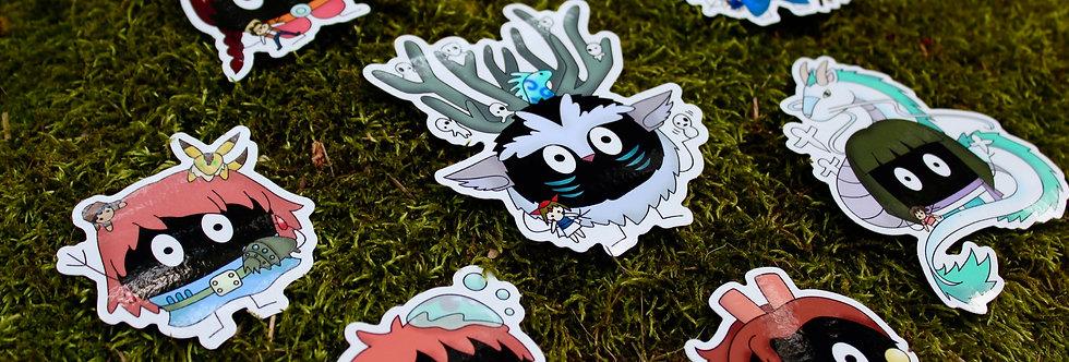 Soot Sprite Sticker Collection Pt. 2