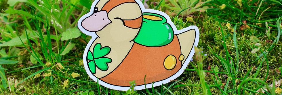 """Lucky Baby Turtle Duck 3"""" Vinyl Sticker"""