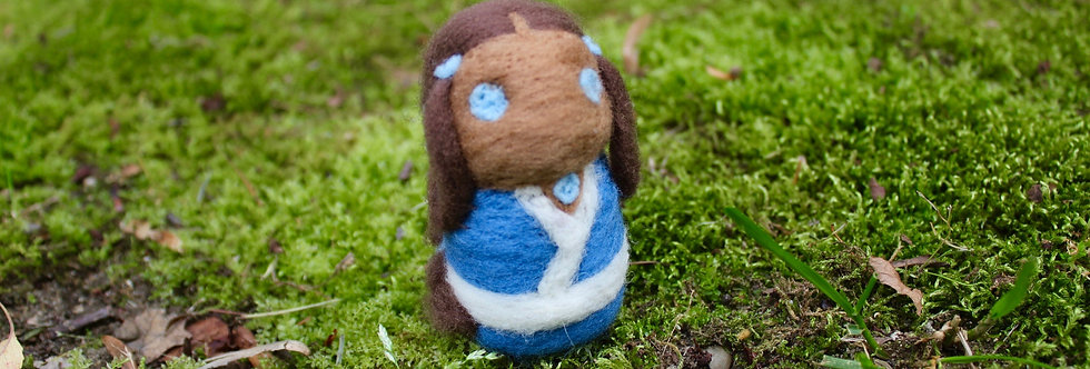 Felted Avatar Water Girl