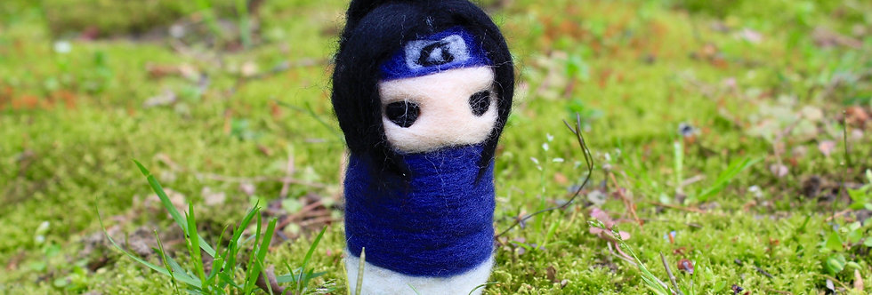 Felted Moody Ninja Boy