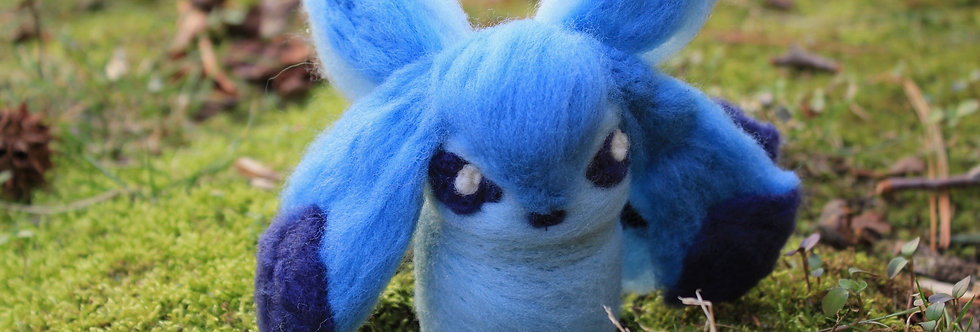 Felted Ice Fox Creature