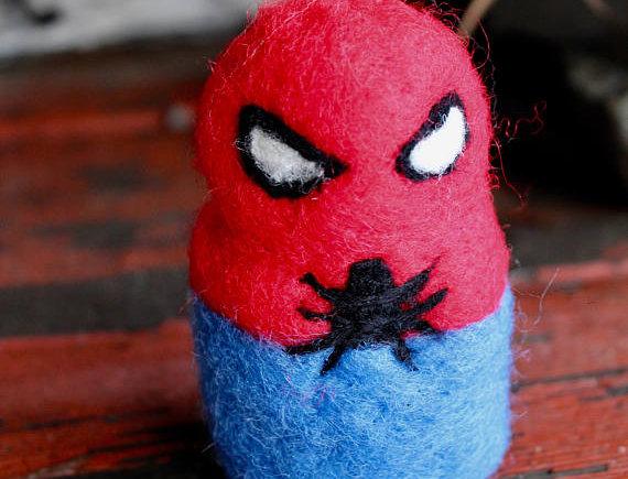 Felted Spider Superhero