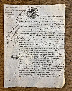 Paléographie - Acte du XVIIIème siècle - © Chercheur d'Histoires