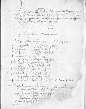 Paléographie - Acte du XVème siècle - © Chercheur d'Histoires