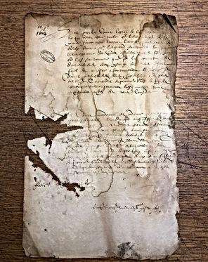 Paléographie - Acte du XVIIème siècle - © Chercheur d'Histoires