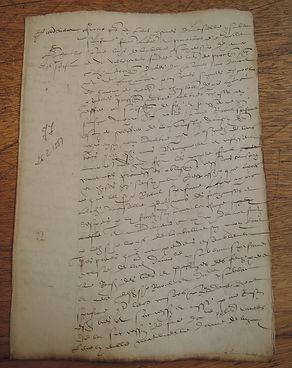 Paléographie - Acte du XVIème siècle - © Chercheur d'Histoires