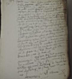 Acte du XVIème siècle. © Chercheur d'Histoires - Cabinet Généalogique