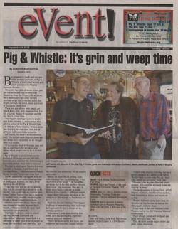 Pig n Whistle Paper