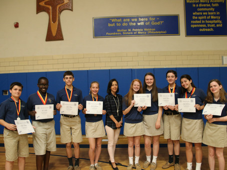 Gold Medals In The National Spanish Exam For Waldron Mercy Academy Students