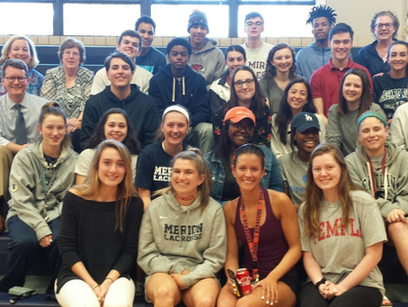 CLASS OF 2014 RETURNS TO CAMPUS FOR PIZZA AND VOLLEY BALL SEND OFF