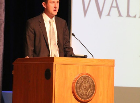 STEPHEN GLEASON '09 DELIVERS INSPIRATIONAL SPEECH AT ACHIEVEMENT ASSEMBLY