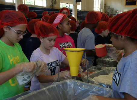 Waldron Mercy Academy Joins Stop Hunger Now For The Third Consecutive Year