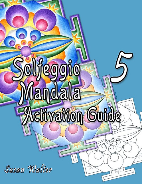 Solfeggio Mandala Adult Coloring Book & Meditation Deck, Divine