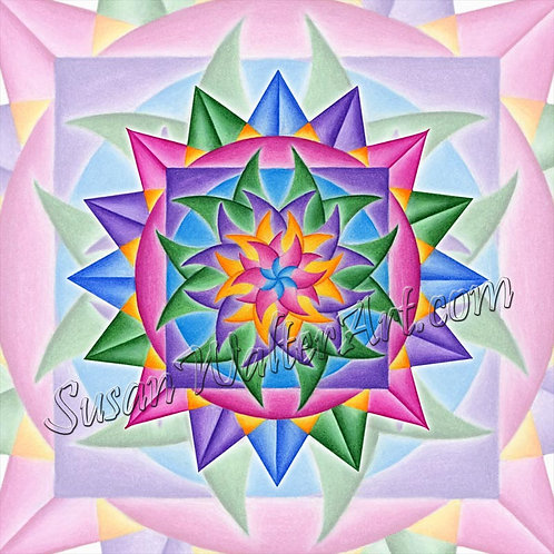 Solfeggio Mandala 234Hz, Remembering the Way Home
