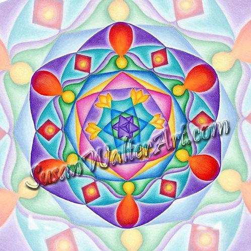 Solfeggio Mandala 417 Hz, Facilitating Change