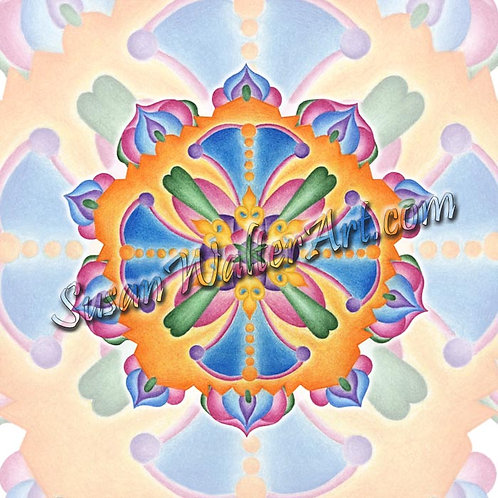 Solfeggio Mandala 186Hz, Karmic Soul Contracts
