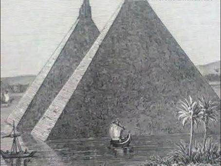 Twin Pyramids of Lake Moeris, Egypt