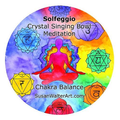 Solfeggio Crystal Singing Bowl Meditation