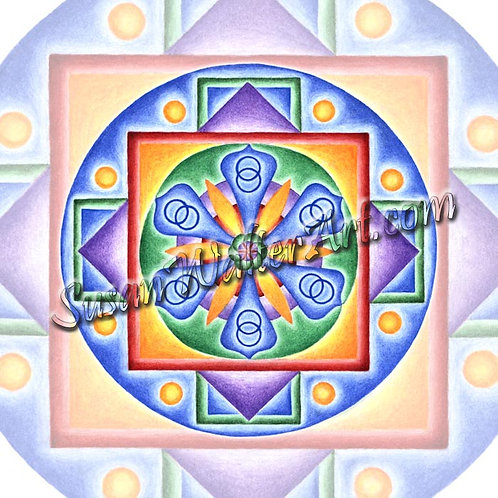 Solfeggio Mandala 594Hz, DNA a Window to Creation