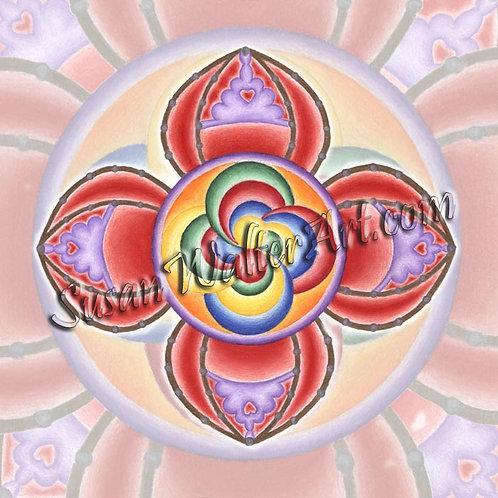 Solfeggio Mandala 444Hz, Grounding, Balancing
