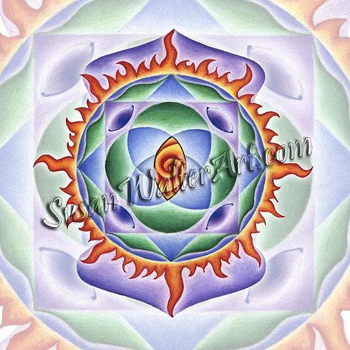 Solfeggio Mandala 222Hz, New Beginnings