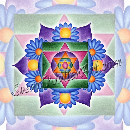 Solfeggio Mandala 456Hz, Changing Light Source
