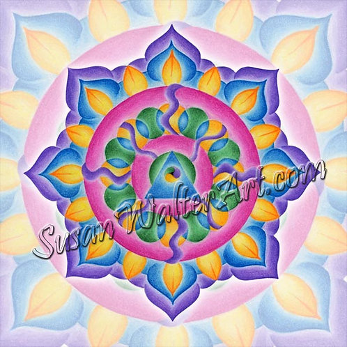 Solfeggio Mandala 924Hz, Unity with Self