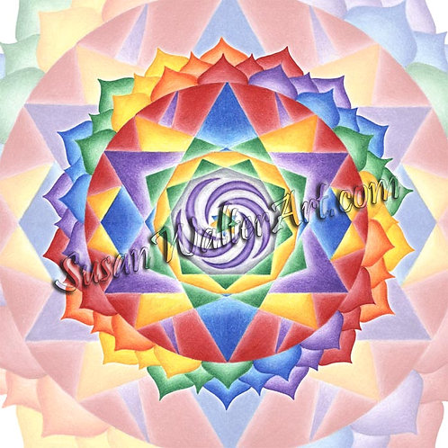 Solfeggio Mandala 999Hz, Unify Lightworkers