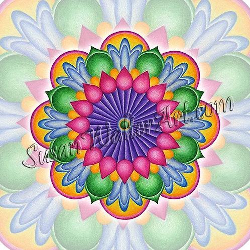 Solfeggio Mandala 825Hz, Journey to the Heart