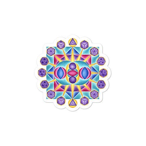 Solfeggio Mandala 765Hz Sticker