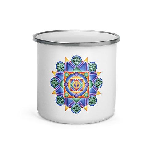 Enamel Mug Solfeggio Mandala 432Hz